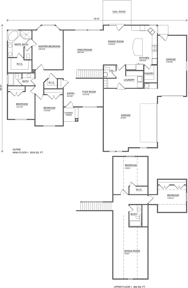Alpine frog plan small perry homes southern utah for Utah home builders floor plans