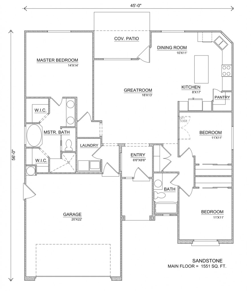 Sandstone house floor plans perry homes for Home layouts floor plans
