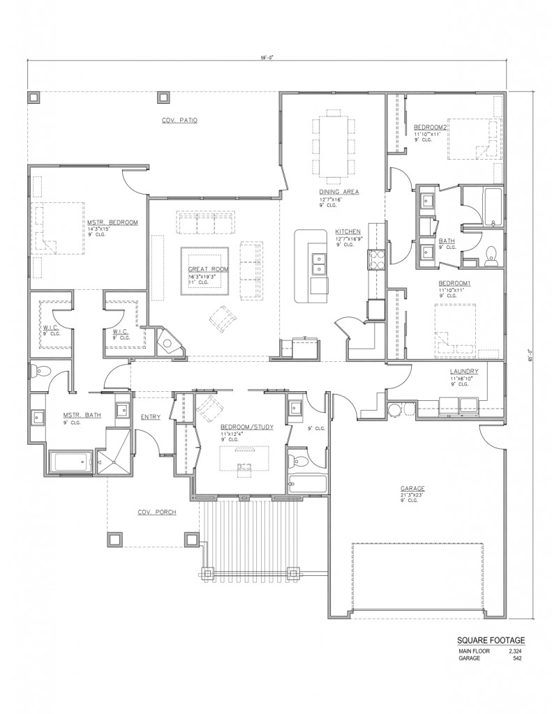 Willow floor plans perry homes southern utah for Utah home design plans