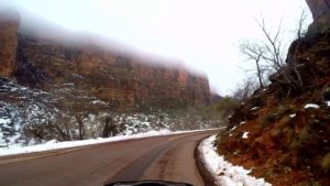 zion national park winter weather scenic